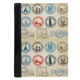 Passport Cover Passport Holder - For Men and Women Vintage Stamps Everywhere