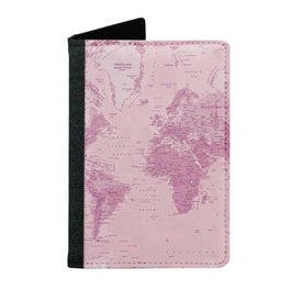 Passport Cover Passport Holder - For Men and Women Rose World Map