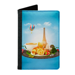 Passport Cover Passport Holder - For Men and Women Paris Breakfast Food Lovers