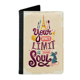 Passport Cover Passport Holder - For Men and Women Only Limit Is Your Soul Food Lovers