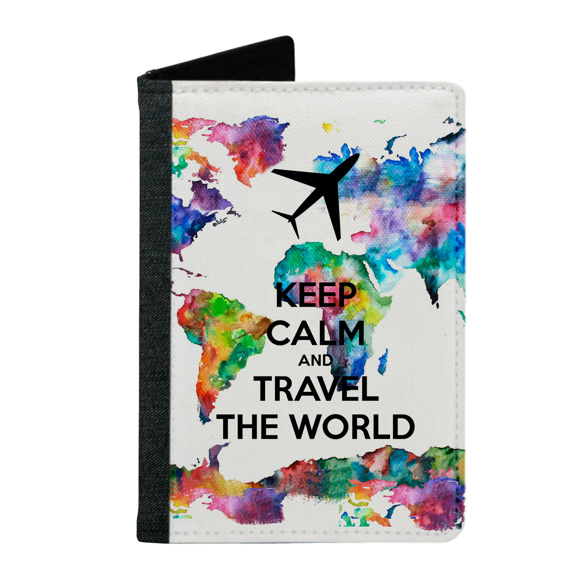 Passport Cover Passport Holder - For Men and Women Keep Calm And Travel The World Typography