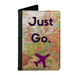Passport Cover Passport Holder - For Men and Women Just Go With Map