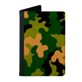 Passport Cover Passport Holder - For Men and Women Green Army Camouflage