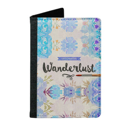 Passport Cover Passport Holder - For Men and Women Floral Wanderlust Typography