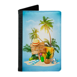 Passport Cover Passport Holder - For Men and Women Enjoy Travelling On Beach Beach Lovers