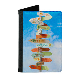 Passport Cover Passport Holder - For Men and Women Arrows Showing Directions