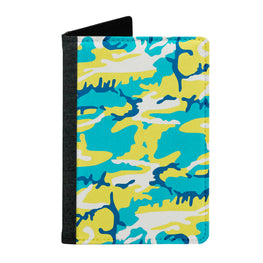 Passport Cover Passport Holder - For Men and Women Colourful Camouflage
