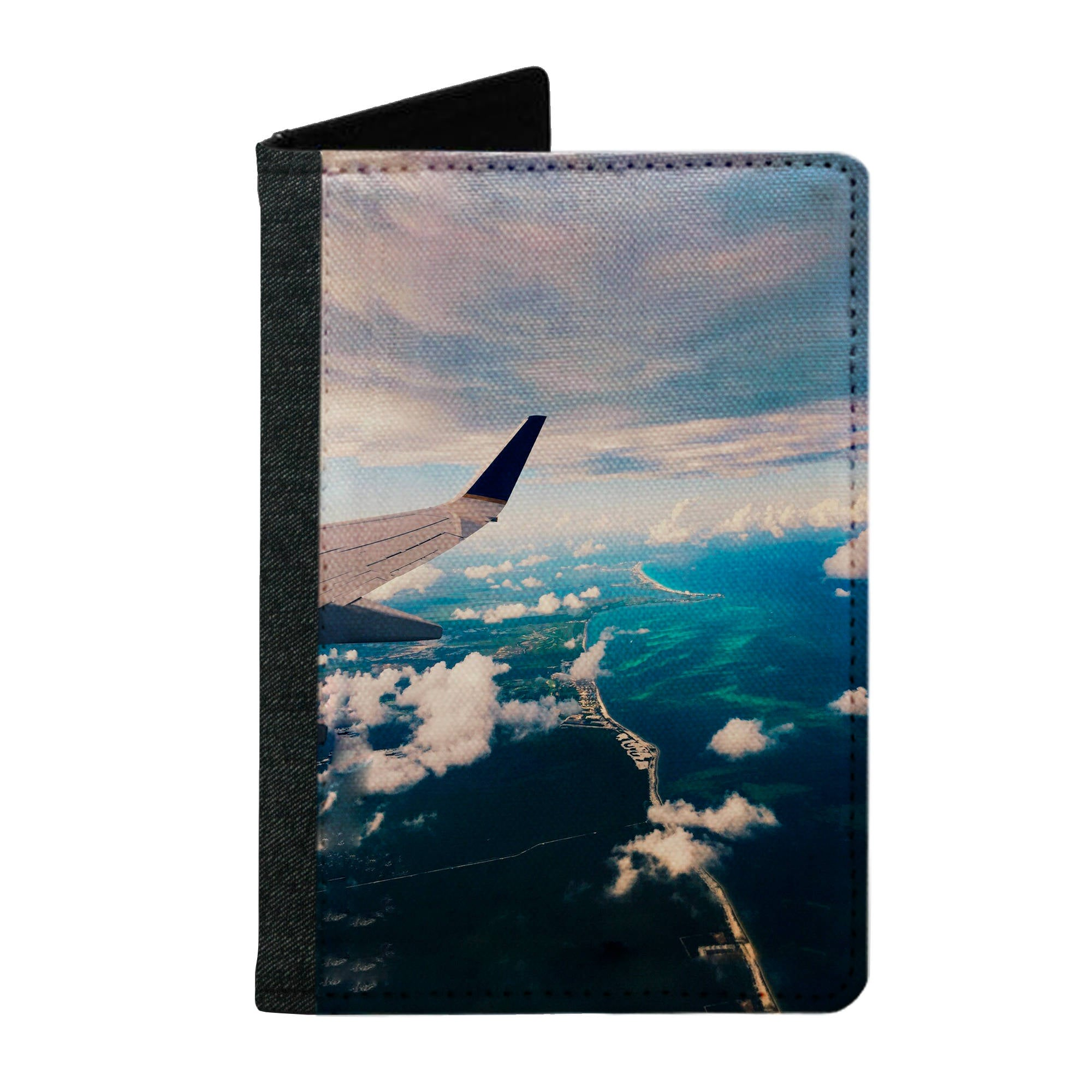 Passport Cover Passport Holder - For Men and Women Airplane On Sky Clouds
