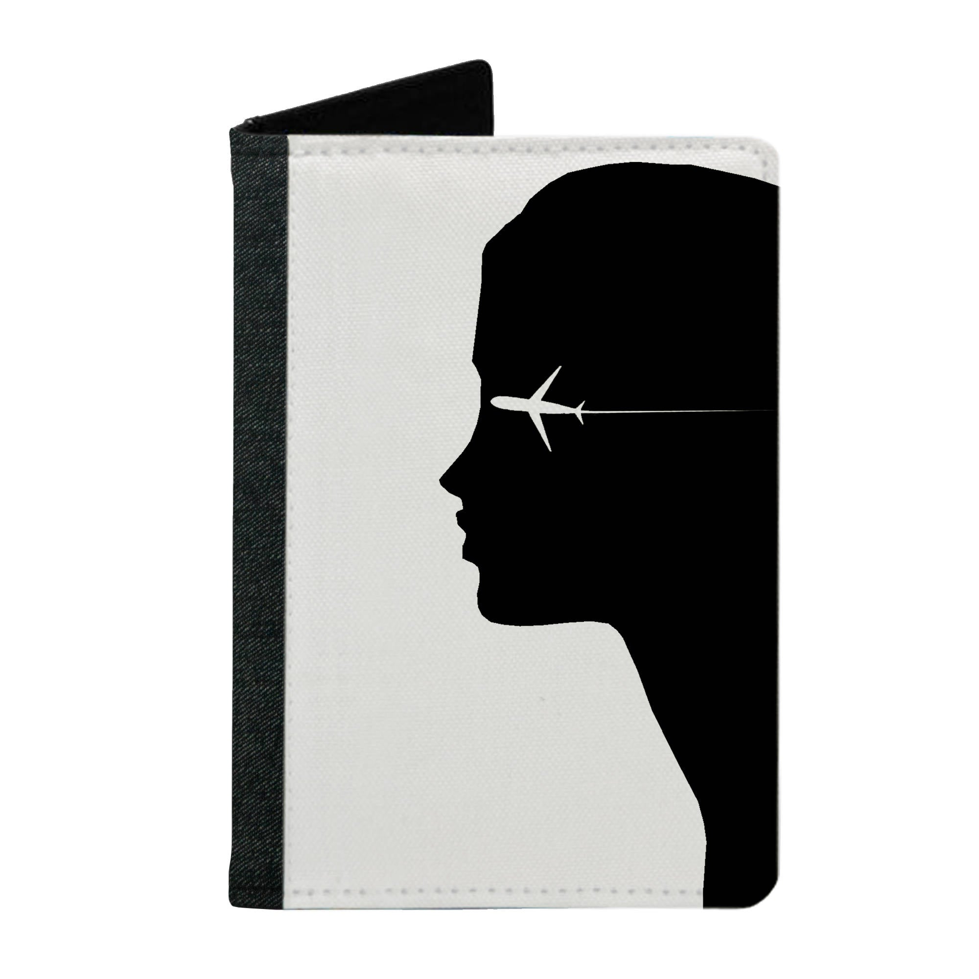 Passport Cover Passport Holder - For Men and Women Girl With Airplane Art For Artist
