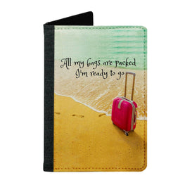 Passport Cover Passport Holder - For Men and Women Ready To Go On Beach With Bag