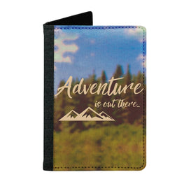 Passport Cover Passport Holder - For Men and Women Adventure Is Out There Typography