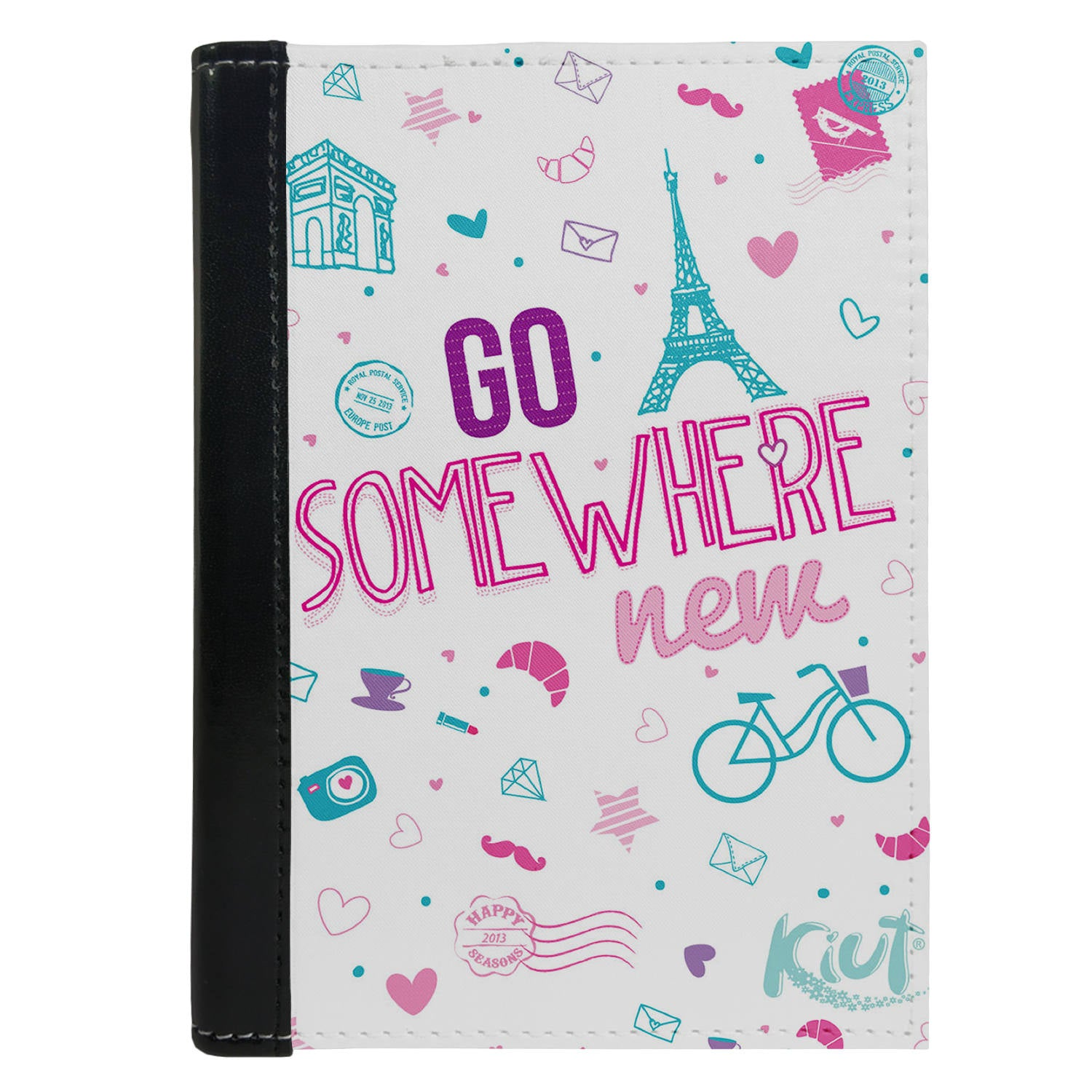 Passport Cover Passport Holder - For Men and Women Go Some Where Paris Art