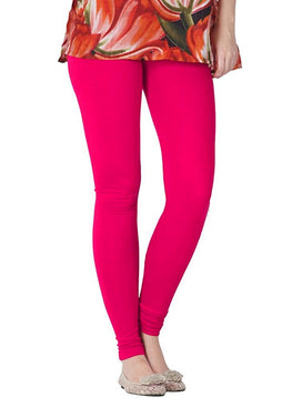 Premium Super Soft Stretchable Free Size Pink Leggings for Women