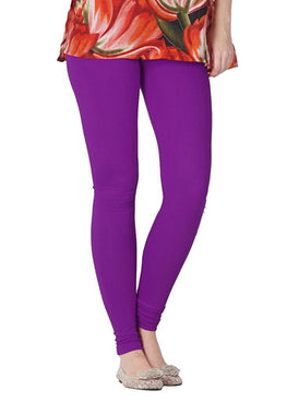 Premium Super Soft Stretchable Free Size Purple Leggings for Women