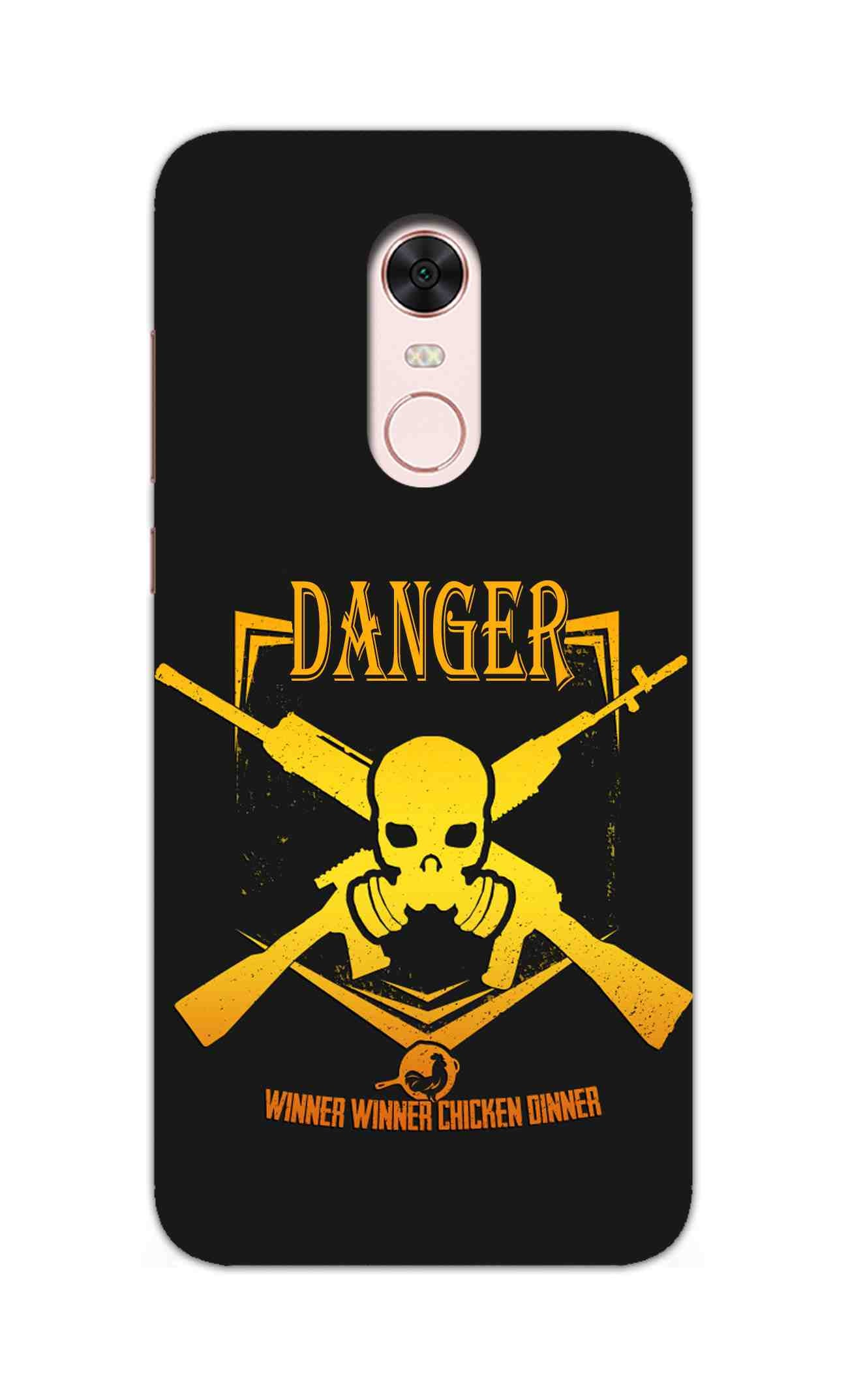 Danger Gun Sign Typography RedMi Note 5 / RedMi Note 5 Plus Mobile Cover Case - MADANYU