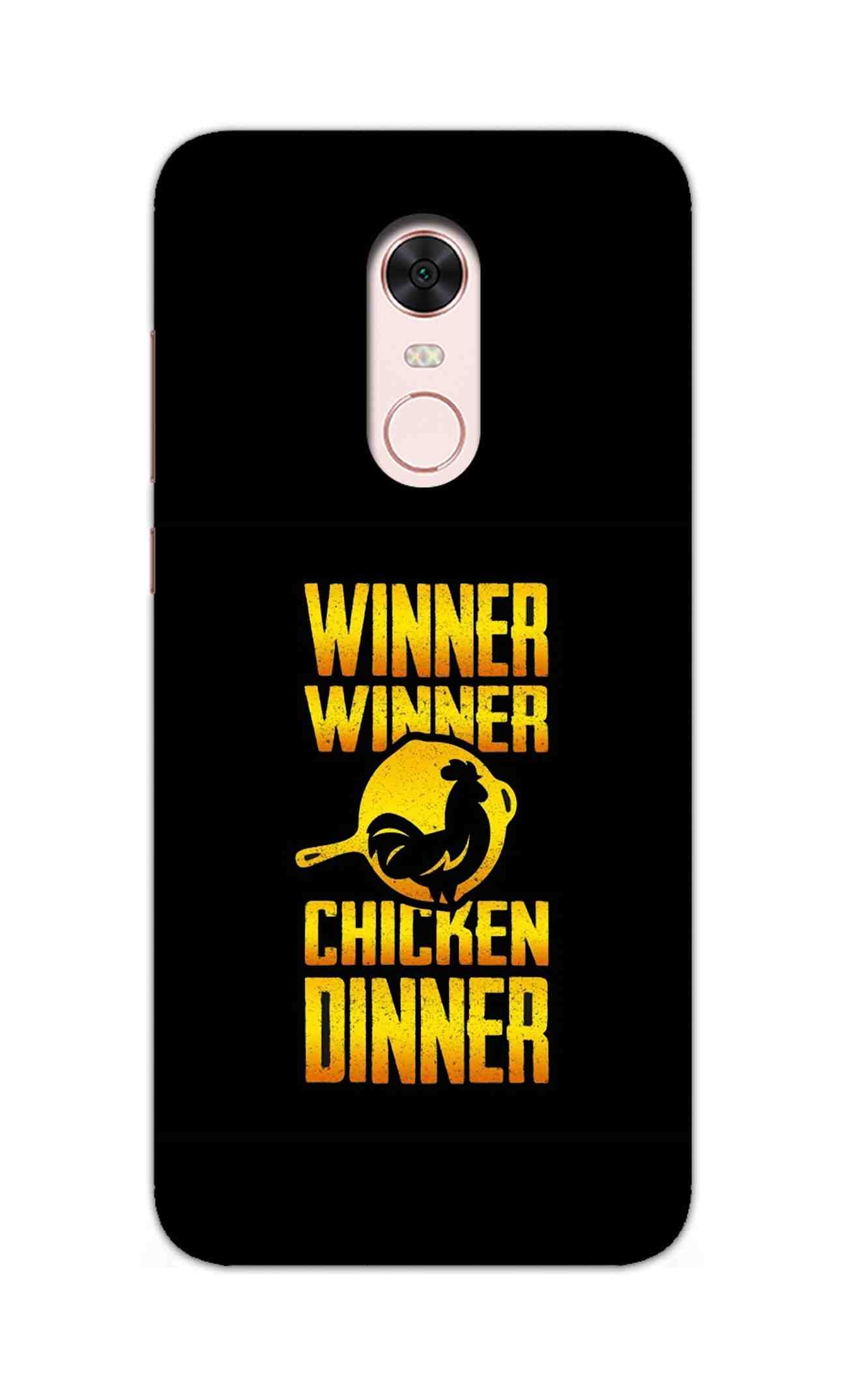 Chicken Dinner Pan For Winner Typography RedMi Note 5 / RedMi Note 5 Plus Mobile Cover Case - MADANYU