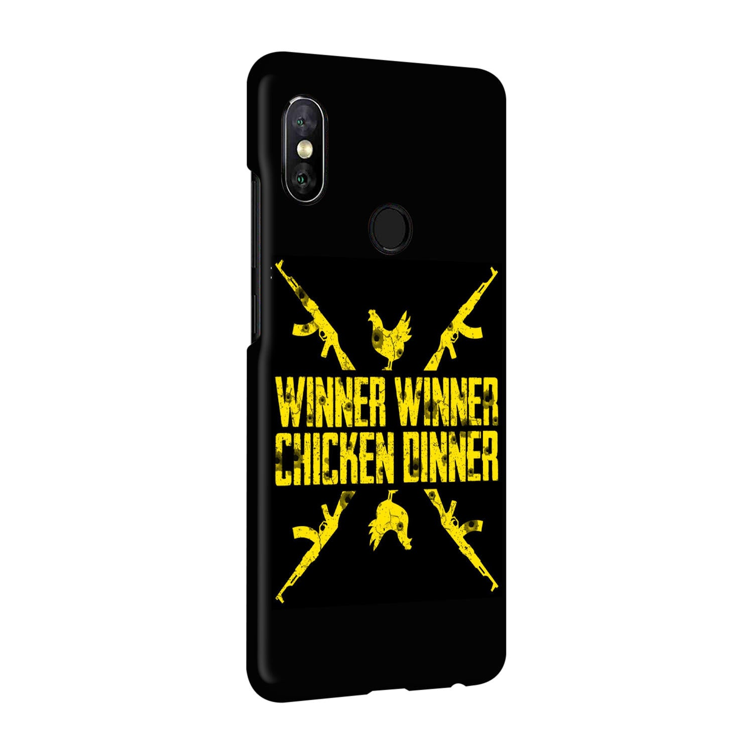 Gun And Chicken For Winner Typography Art RedMi Note 5 Pro Mobile Cover Case - MADANYU