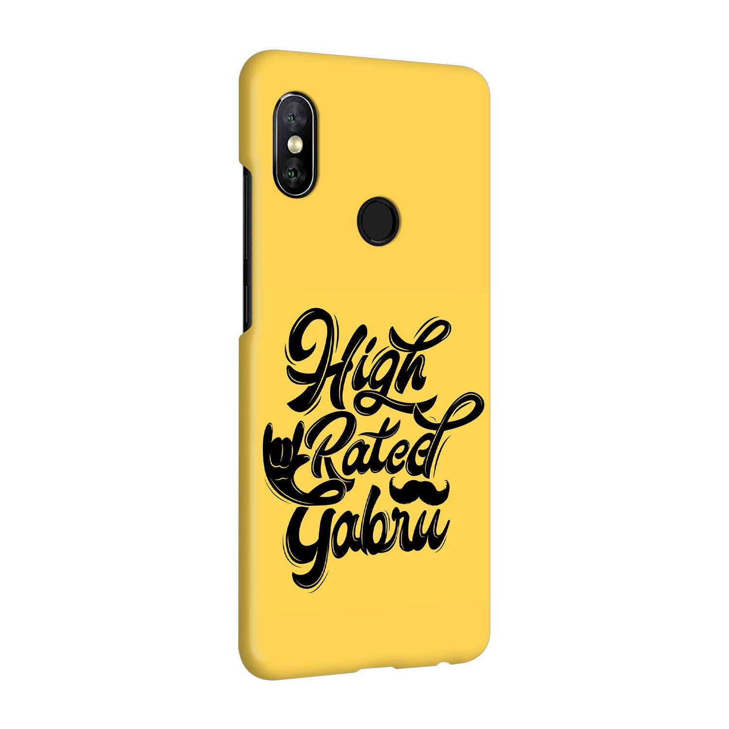 High Rated Gabru Song Typography RedMi Note 5 Pro Mobile Cover Case - MADANYU