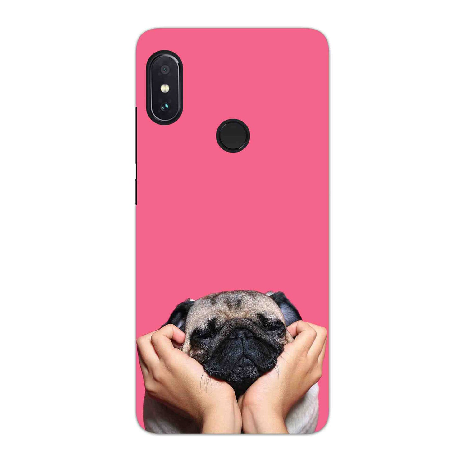 Funny Pug Dog Lovers RedMi Note 6 Pro Mobile Cover Case - MADANYU
