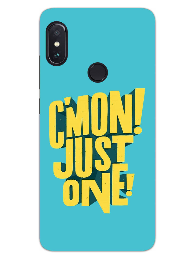 Come On Motivational Quote RedMi Note 6 Pro Mobile Cover Case - MADANYU