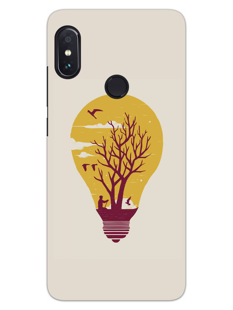 Live Life With Nature RedMi Note 6 Pro Mobile Cover Case - MADANYU
