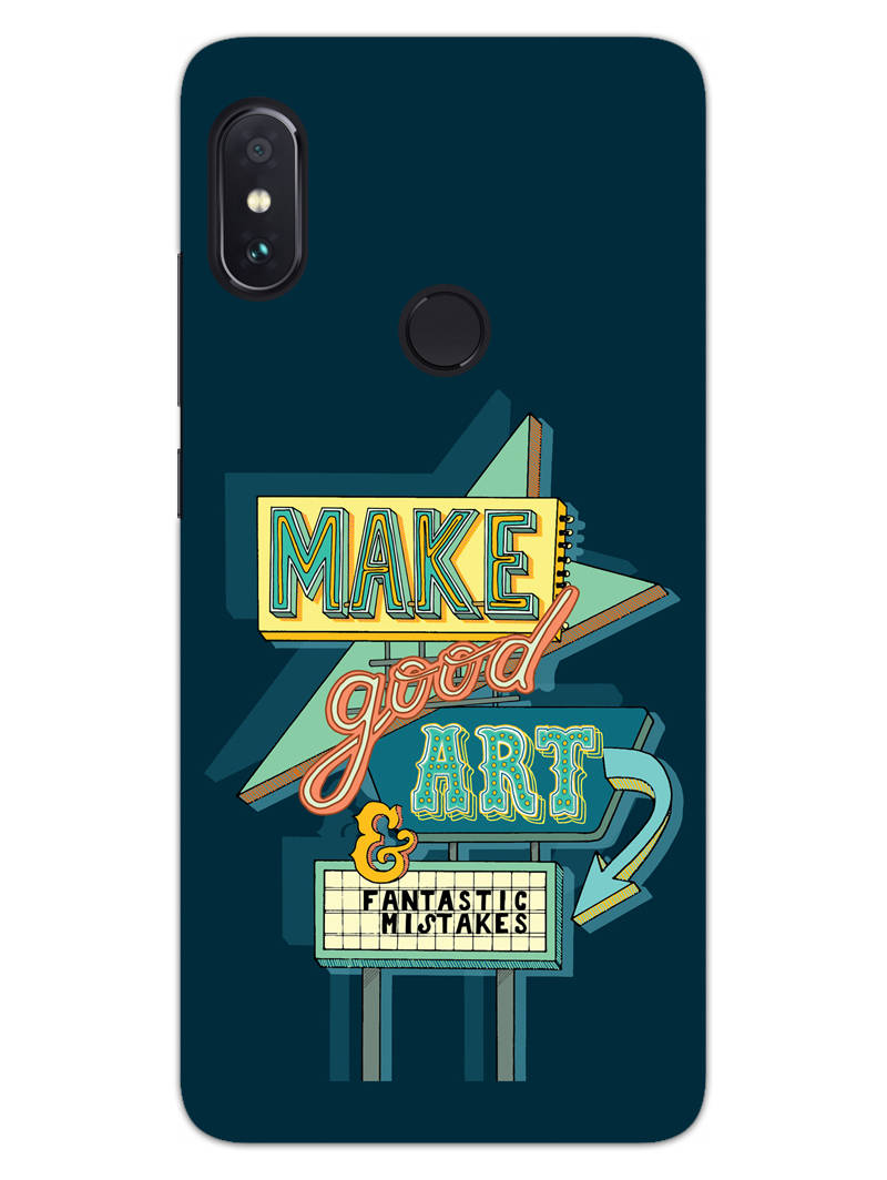 Make Good Art RedMi Note 6 Pro Mobile Cover Case - MADANYU