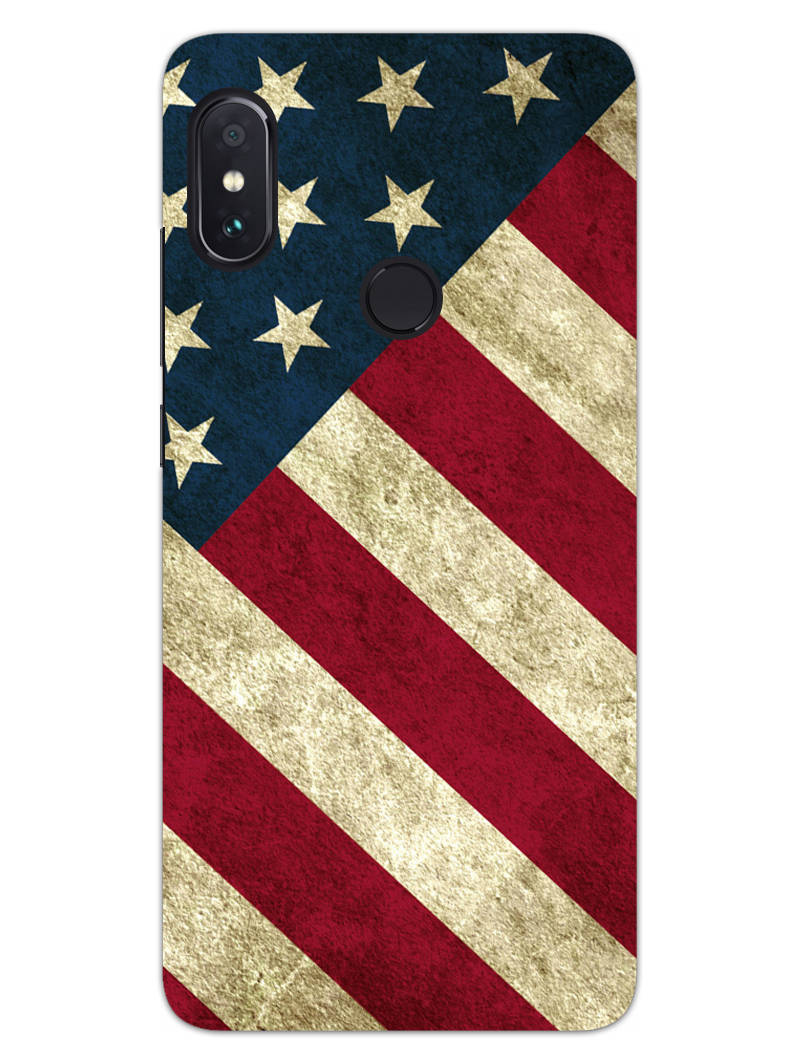 American Flag Art RedMi Note 6 Pro Mobile Cover Case - MADANYU