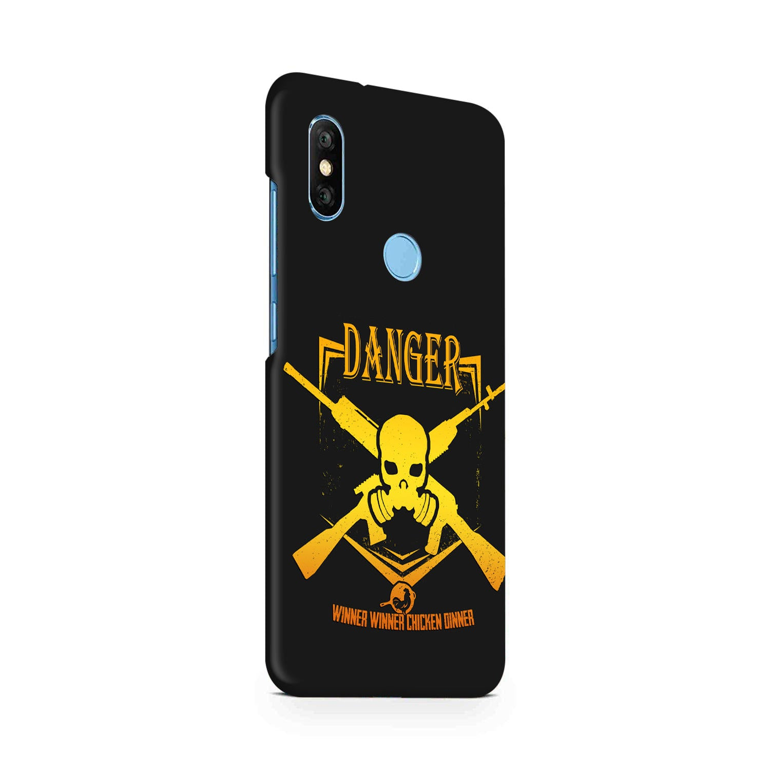 Danger Gun Sign Typography RedMi Note 6 Pro Mobile Cover Case - MADANYU