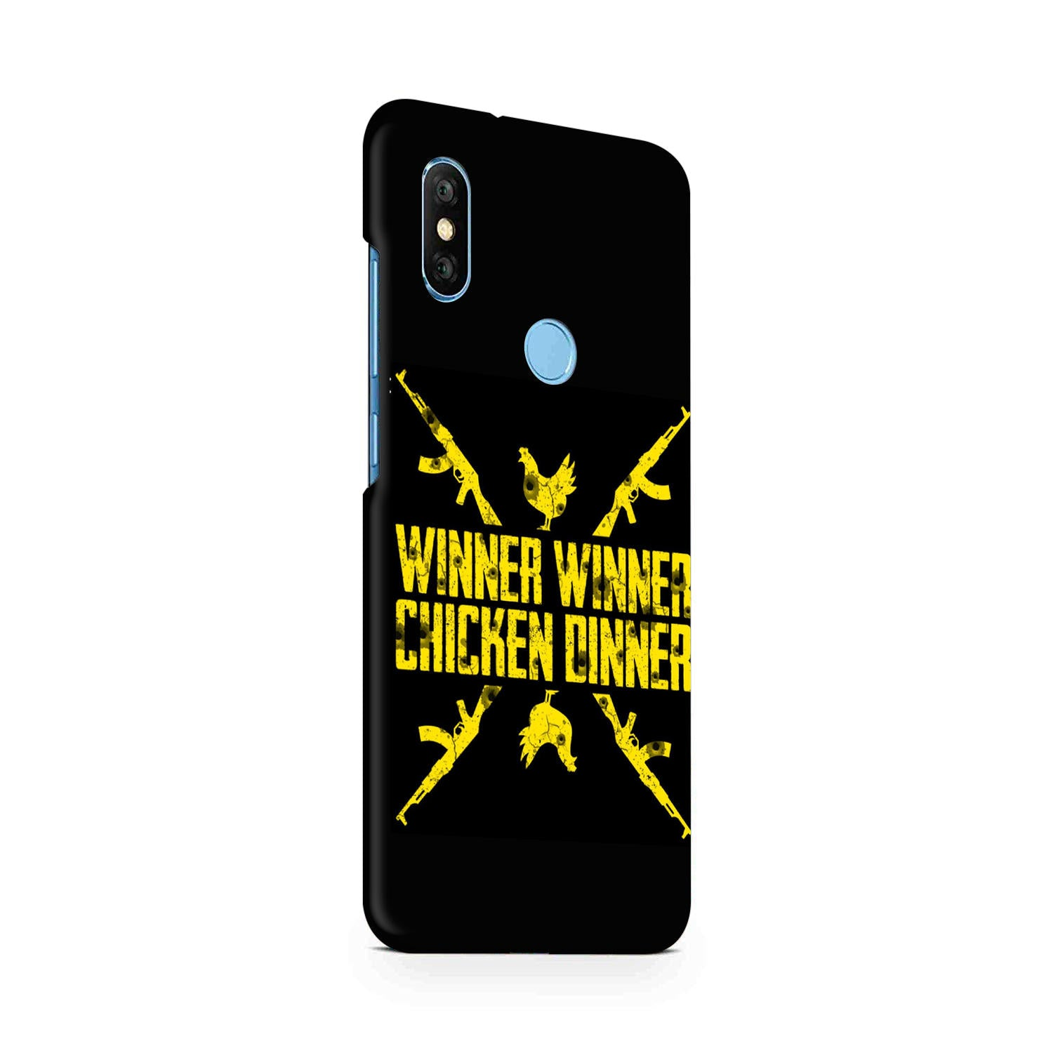 Gun And Chicken For Winner Typography Art RedMi Note 6 Pro Mobile Cover Case - MADANYU