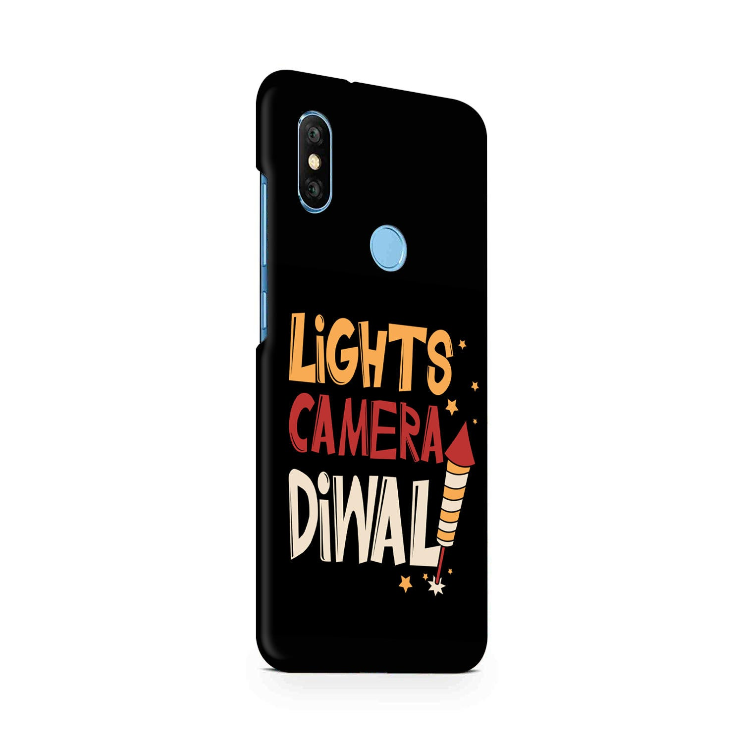 Lights Camera Diwali Enjoy Festival Of Light RedMi Note 6 Pro Mobile Cover Case - MADANYU