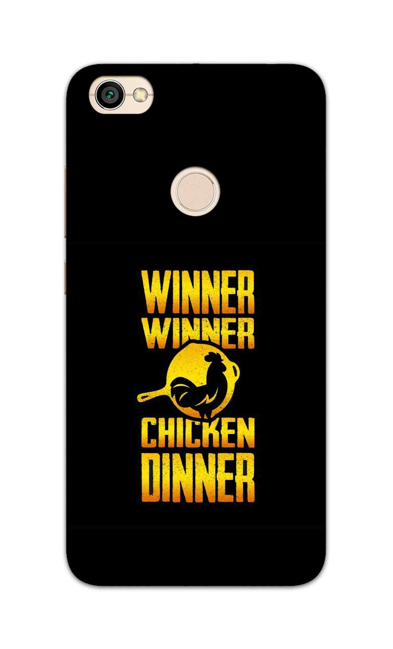 Chicken Dinner Pan For Winner Typography RedMi Y1 Mobile Cover Case - MADANYU