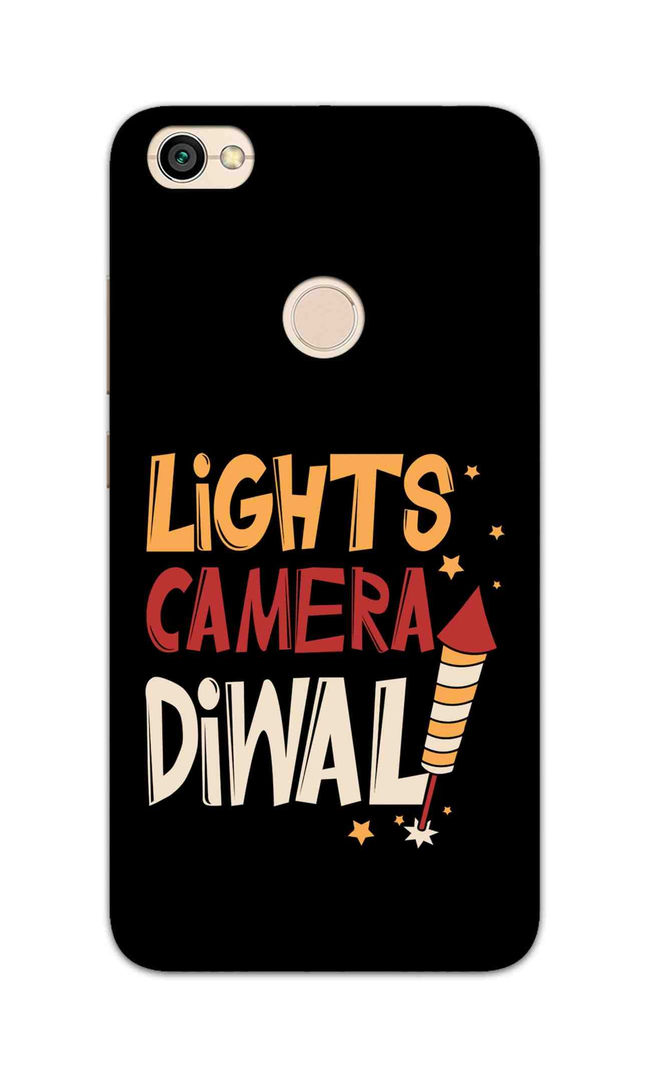 Lights Camera Diwali Enjoy Festival Of Light RedMi Y1 Mobile Cover Case - MADANYU