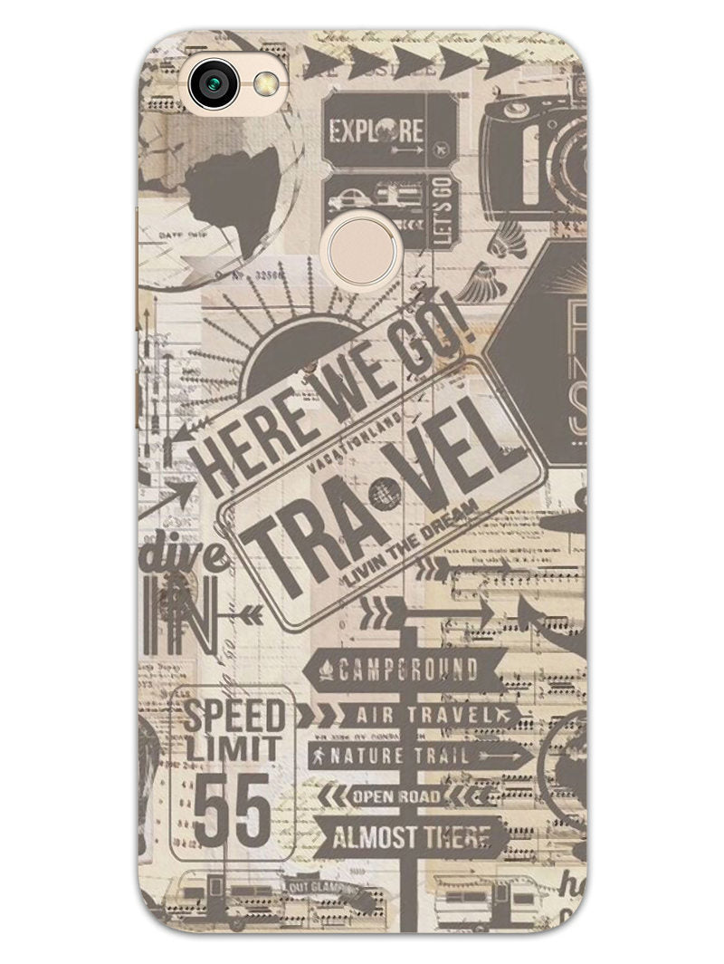 Wanderlust Graffiti RedMi Y1 Mobile Cover Case