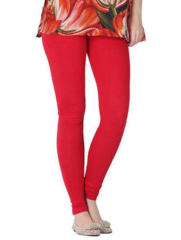 Premium Super Soft Stretchable Free Size Red Leggings for Women