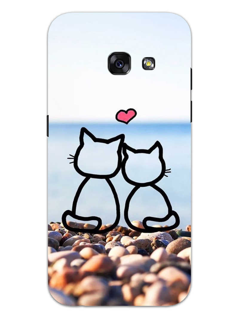 Cat Couple Samsung Galaxy A3 2017 Mobile Cover Case