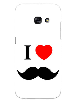 I Love Mustache Style Samsung Galaxy A3 2017 Mobile Cover Case