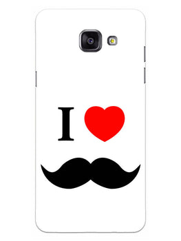 I Love Mustache Style Samsung Galaxy A5 2016 Mobile Cover Case
