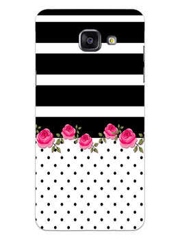 Rose Polka Stripes Samsung Galaxy A5 2016 Mobile Cover Case