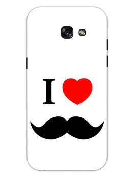 I Love Mustache Style Samsung Galaxy A5 2017 Mobile Cover Case