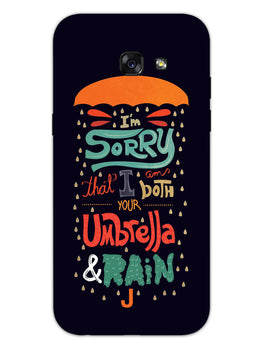 Umbrella And Rain Rainny Quote Samsung Galaxy A5 2017 Mobile Cover Case