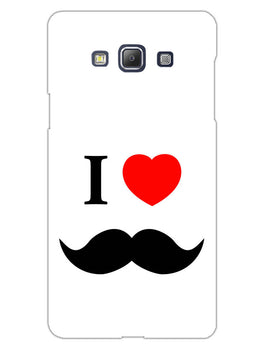 I Love Mustache Style Samsung Galaxy A5 2015 Mobile Cover Case