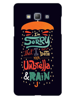 Umbrella And Rain Rainny Quote Samsung Galaxy A5 2015 Mobile Cover Case