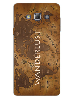 Wanderlust Traveller Globe Trotter Samsung Galaxy A7 2015 Mobile Cover Case