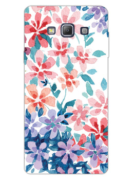 Floral Art Samsung Galaxy A7 2015 Mobile Cover Case