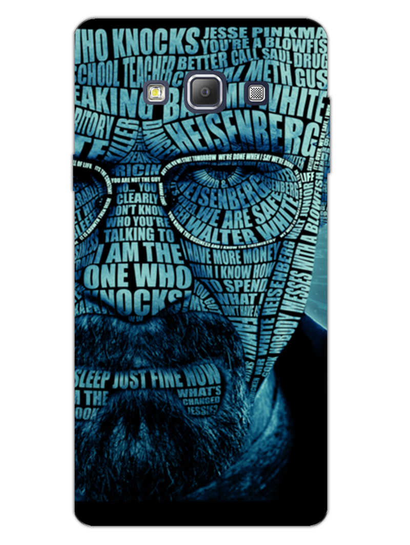 Heisenberg Typography Samsung Galaxy A7 2015 Mobile Cover Case - MADANYU