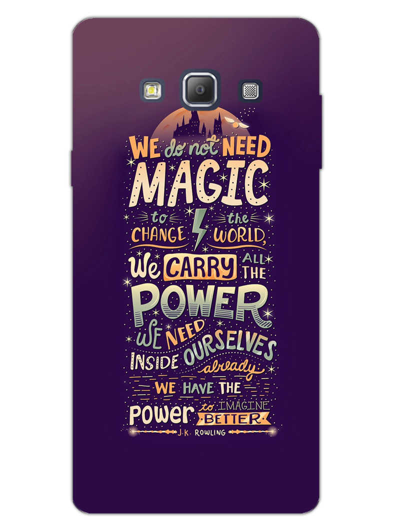 Harry Potter Quote Samsung Galaxy A7 2015 Mobile Cover Case - MADANYU