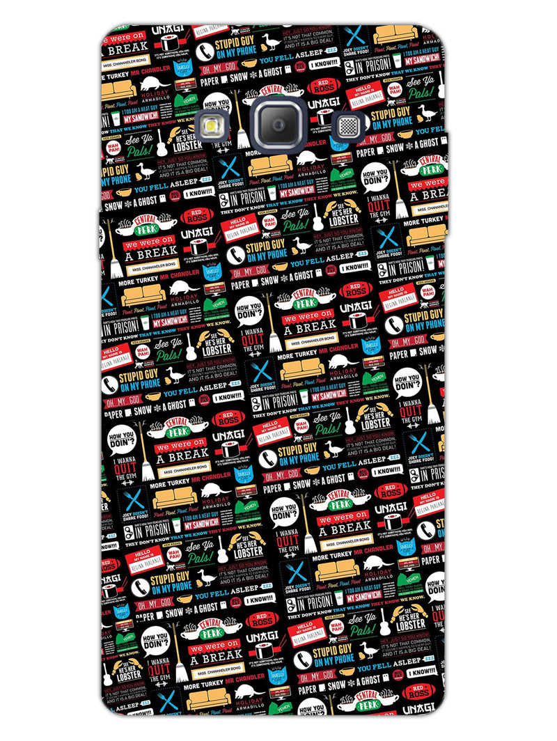 FRIENDS Samsung Galaxy A7 2015 Mobile Cover Case - MADANYU