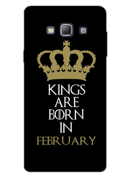 Kings February Samsung Galaxy A7 2015 Mobile Cover Case