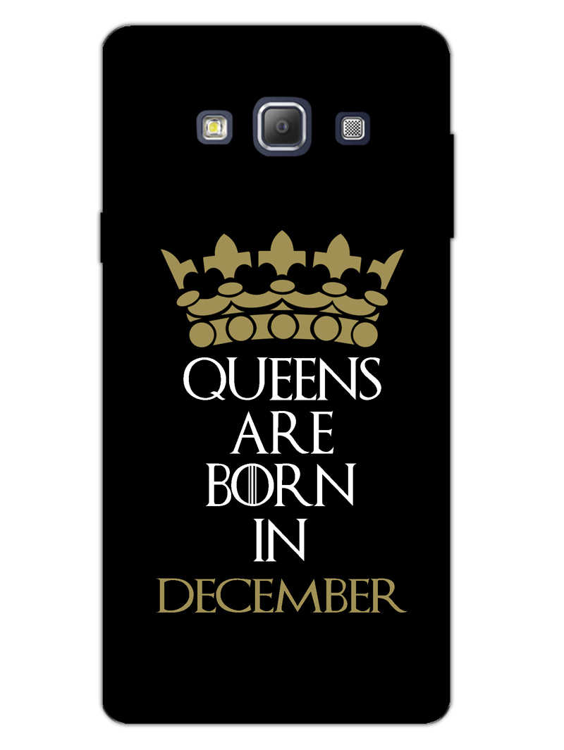 Queens December Samsung Galaxy A7 2015 Mobile Cover Case - MADANYU