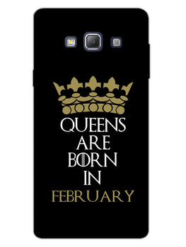 Queens February Samsung Galaxy A7 2015 Mobile Cover Case